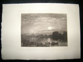 A. Brunet Debaines after J. M. W. Turner 1885 Mezzotint. St. Denis, France